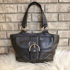 Coach Soho Vintage black satchel shoulder bag